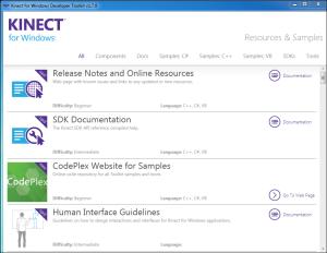 Screenshot: Kinect Toolkit